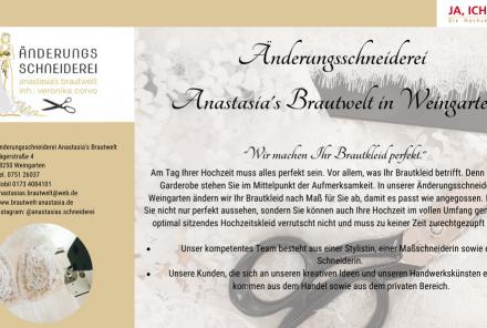 Änderungsschneiderei Anastasia's Brautwelt